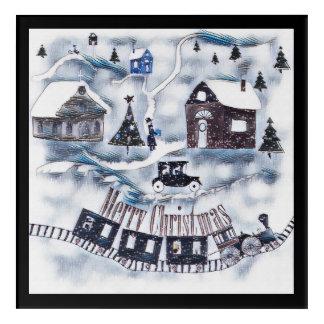 Christmas , Vintage Acrylic Wall Art
