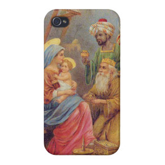 Christmas Vintage Nativity Jesus Illustration Case For iPhone 4