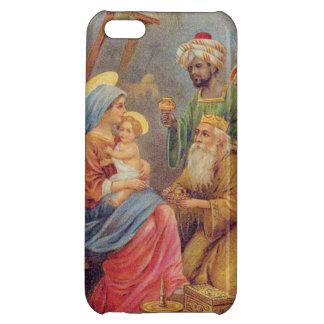Christmas Vintage Nativity Jesus Illustration Case For iPhone 5C