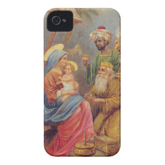 Christmas Vintage Nativity Jesus Illustration Case-Mate iPhone 4 Cases