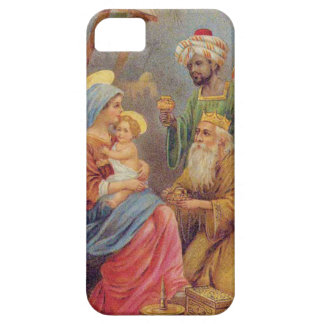 Christmas Vintage Nativity Jesus Illustration iPhone 5 Covers