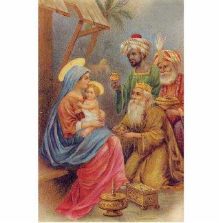 Christmas Vintage Nativity Jesus Illustration Photo Sculpture Decoration