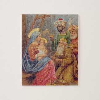Christmas Vintage Nativity Jesus Illustration Puzzle