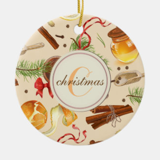 Christmas Vintage Scents Ceramic Ornament