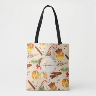 Christmas Vintage Scents Tote Bag