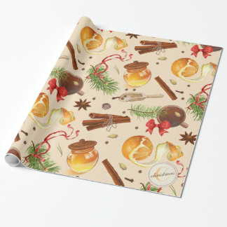 Christmas Vintage Scents Wrapping Paper