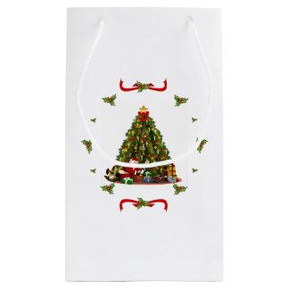 Christmas vintage small gift bag