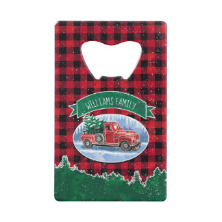 Christmas Vintage Truck Add Name