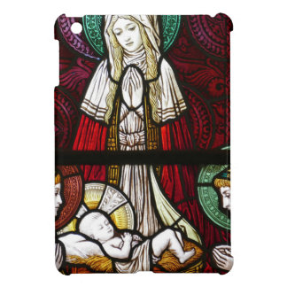 Christmas Vitrage Mother Mary and Jesus iPad Mini Cover