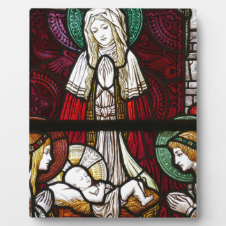 Christmas Vitrage Mother Mary and Jesus Plaque
