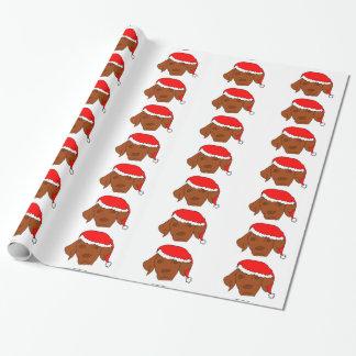 Christmas Vizsla Wrapping Paper