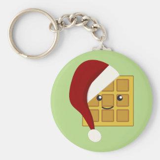 Christmas Waffle Key Ring