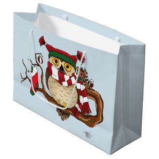Christmas Warmth Large Gift Bag