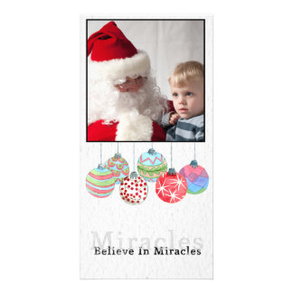 Christmas watercolor balls Photo Card