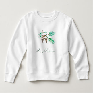 Christmas | Watercolor - Festive Pinecones Quote Sweatshirt
