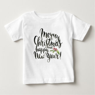 Christmas | Watercolor - Happy New Year Poinsettia Baby T-Shirt