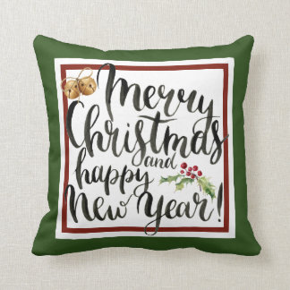 Christmas | Watercolor - Happy New Year Quote Cushion