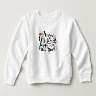 Christmas | Watercolor - Happy New Year Quote Sweatshirt