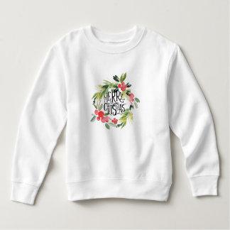 Christmas   Watercolor - Holiday Holly Wreath Sweatshirt