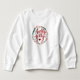 Christmas | Watercolor - Holly Jolly Wreath Sweatshirt