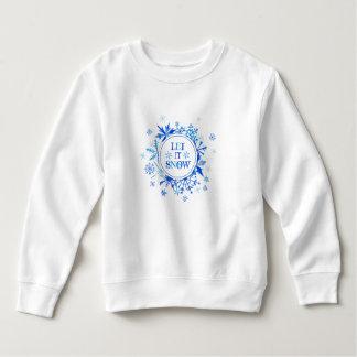 Christmas   Watercolor - Let It Snow Snowflakes Sweatshirt