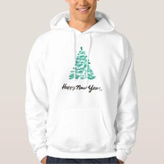 Christmas | Watercolor - New Year Green Tree Hoodie