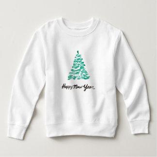 Christmas   Watercolor - New Year Green Tree Sweatshirt