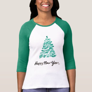 Christmas | Watercolor - New Year Green Tree T-Shirt