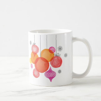Christmas | Watercolor - Ornaments & Snowflakes Coffee Mug