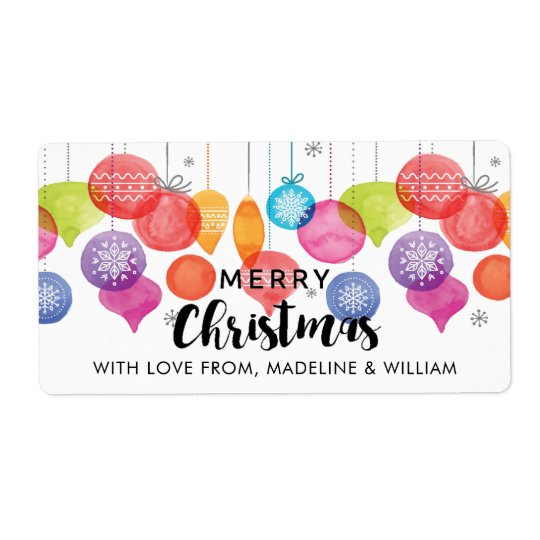 Christmas | Watercolor - Snowflake Ornaments Quote