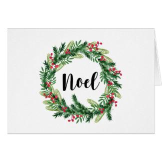 Christmas watercolor wreath card