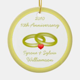 Christmas/Wedding Anniversary Ceramic Ornament