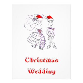 Christmas Wedding Bride and Groom Full Color Flyer