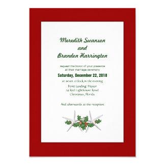 Christmas Wedding in Tropics Custom Invitations