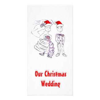 Christmas Wedding Photo Card Template