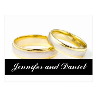 Christmas Wedding Save the Date Gold Rings Card