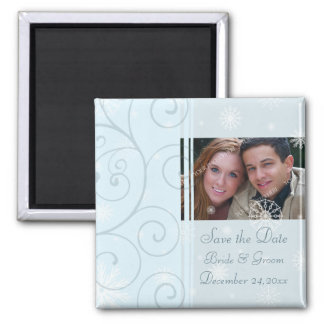 Christmas Wedding Save the Date Photo Magnet