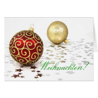 Christmas Weihnachten I Card