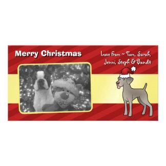Christmas Weimaraner Custom Photo Card