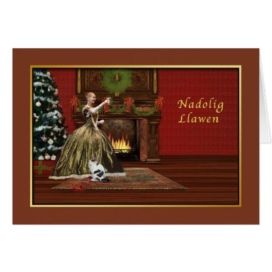 Christmas, Welsh, Nadolig Hapus i chi, Welsh Card
