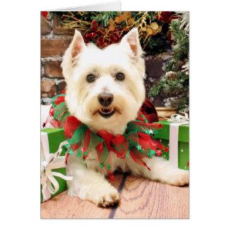 Christmas - West Highland Terrier - Abby Card