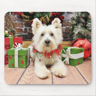 Christmas - West Highland Terrier - Polo Mouse Pad