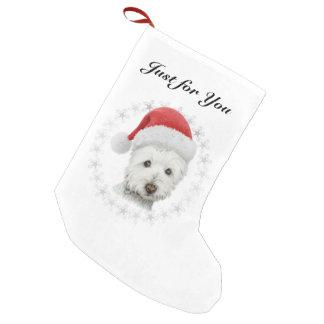 Christmas Westie dog art Stocking
