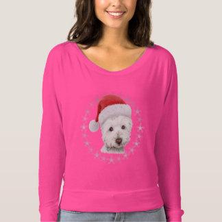 Christmas Westie Dog Art Woman's Top