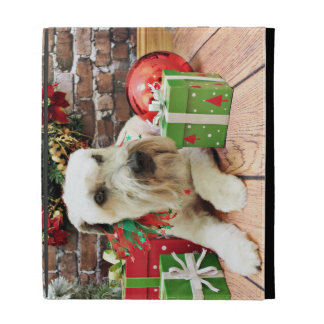 Christmas - Wheaten Terrier - Irish iPad Folio Cases