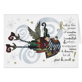 Christmas  Whimsical Elf Boy Card