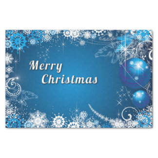 Christmas Whimsical Snowflake Swirls Tissue Paper