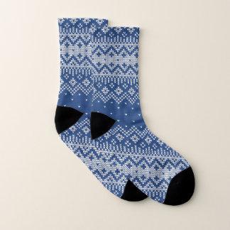 Christmas White & Blue Fair Isle Knitting Pattern 1