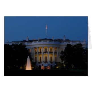 Christmas White House at Night in Washington DC Greeting Card