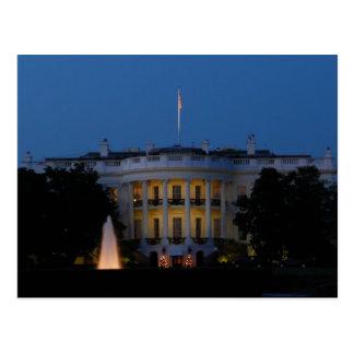 Christmas White House at Night in Washington DC Postcard